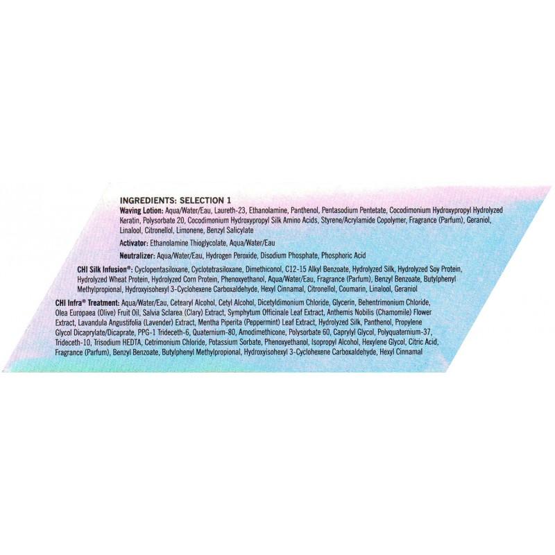 CHI Ionic Permanent Shine Waves Selection 1 Ingredients Перманентная завивка для волос Состав 1: Ингредиенты